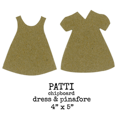 Chipboard Dress and Pinafore Patti