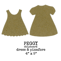 Chipboard Dress and Pinafore Peggy