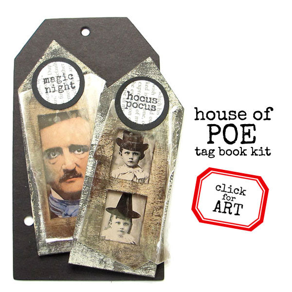 House of Poe Tag Book Kit