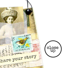 Share Your Story Wood Mounted Rubber Stamp