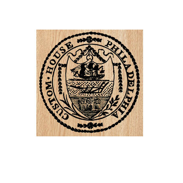 Custom House Postmark Wood Mount Rubber Stamp