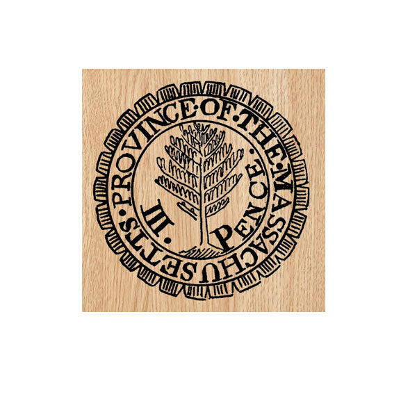 Province Mass. Postmark Wood Mount Rubber Stamp
