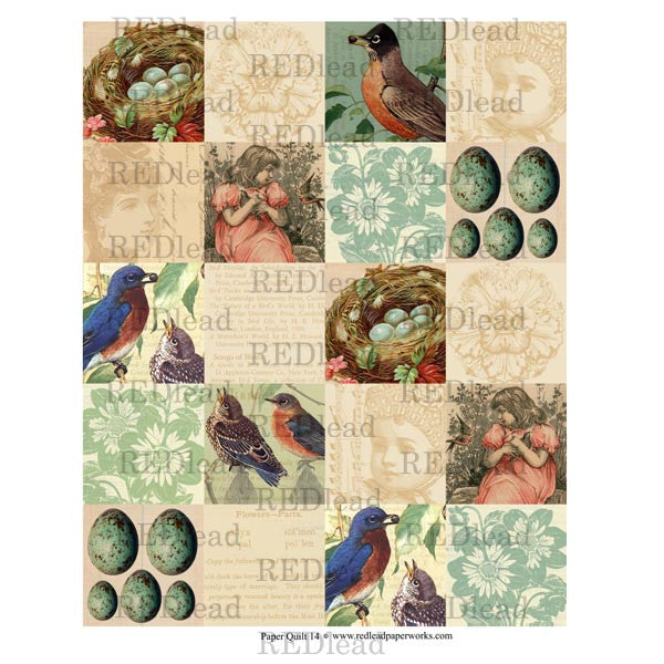 Collage Sheet - Patchwork Quilt 14