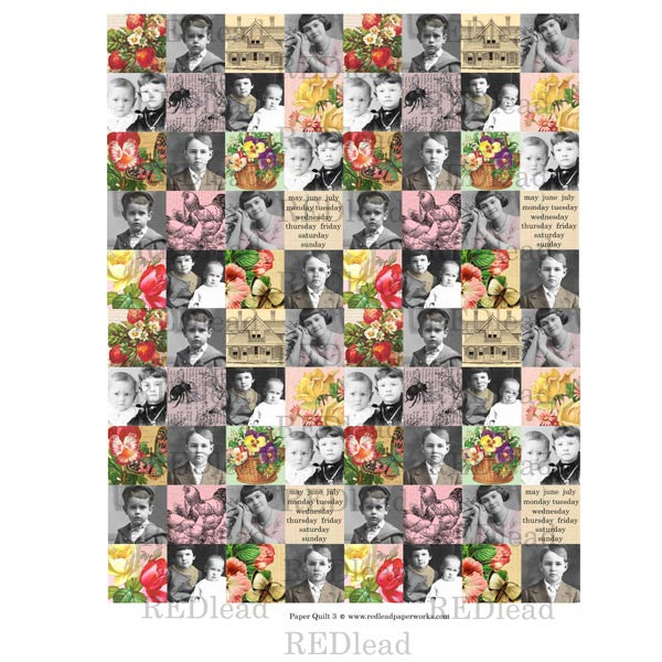 Collage Sheet Patchwork Quilt 3