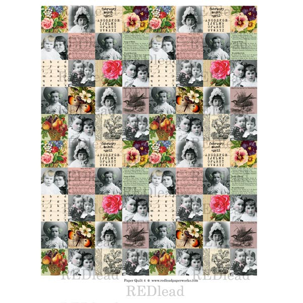 Collage Sheet Patchwork Quilt 4