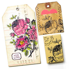 Rose Bouquet Rubber Stamp