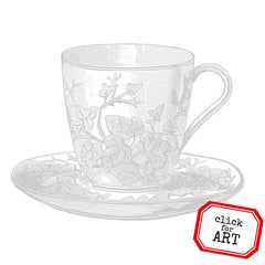 Afternoon Teacup Rubber Stamp Save 20%