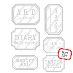 Labels for Your Books and Journals Rubber  Stamp