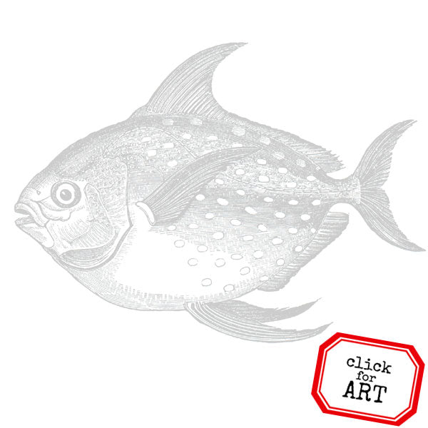 Big Fish Rubber Stamp