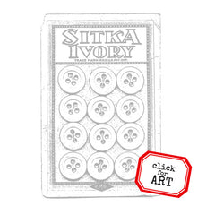 Ivory Button Card Rubber Stamp Save 20%
