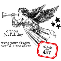Christmas Angel Rubber Stamp