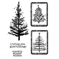 Cling Mount Christmas Tree Rubber Stamp