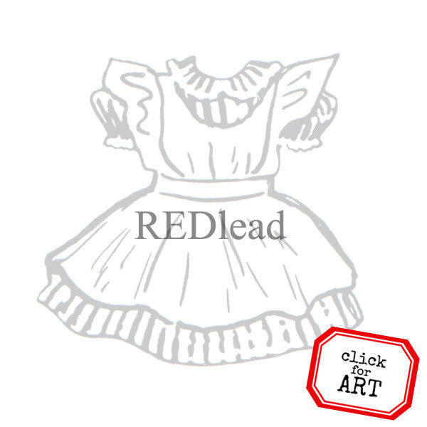 Diane Dress Rubber Stamp