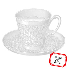 Evening Teacup Rubber Stamp Save 20%