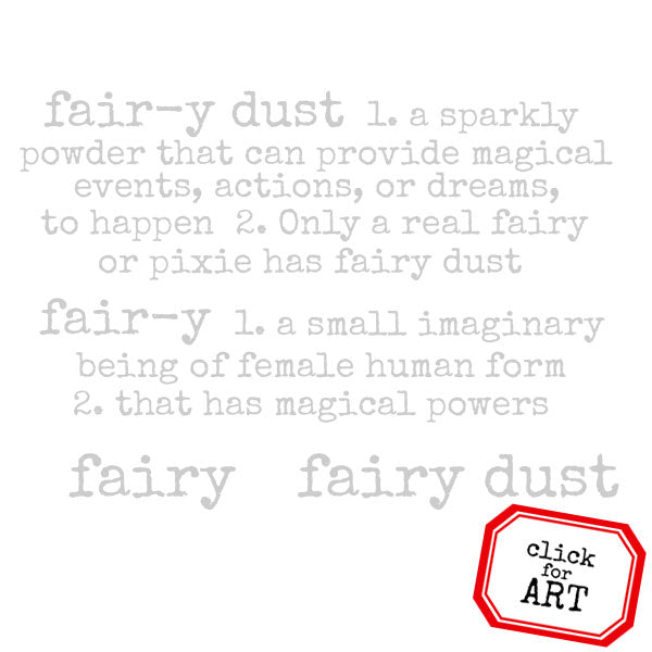 Fairy Dust Defined Rubber Stamp