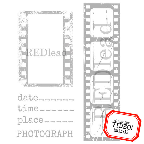 Film Strip Photo Frame Rubber Stamp
