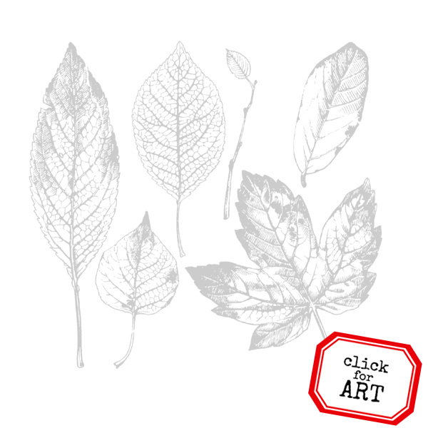Forest Leaves Rubber Stamp
