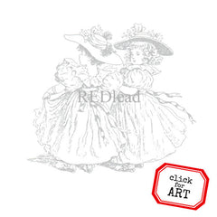 Frilly Girls Rubber Stamp