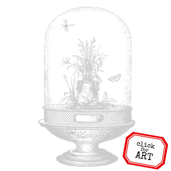 Glass Garden Rubber Stamp