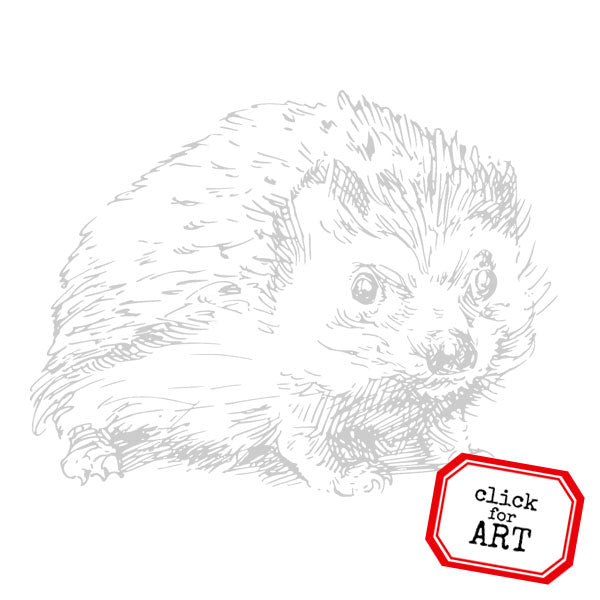 Henrietta Hedge Hog Rubber Stamp