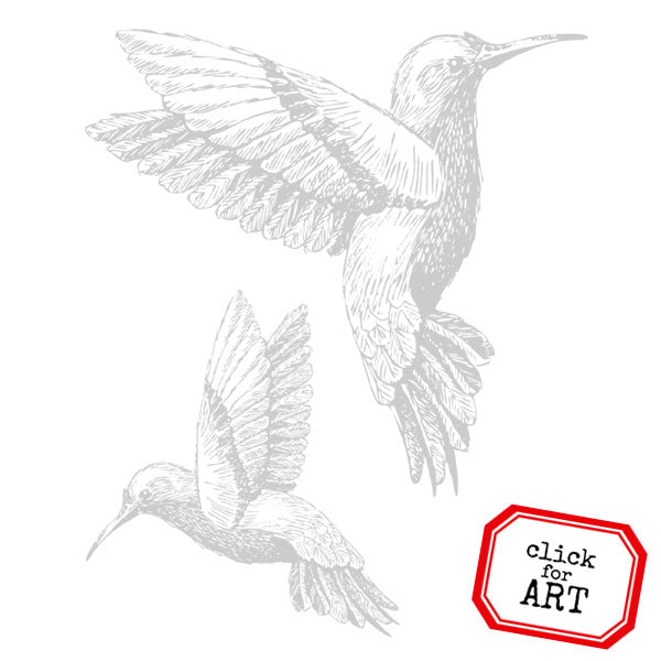 Hummingbirds Rubber Stamps