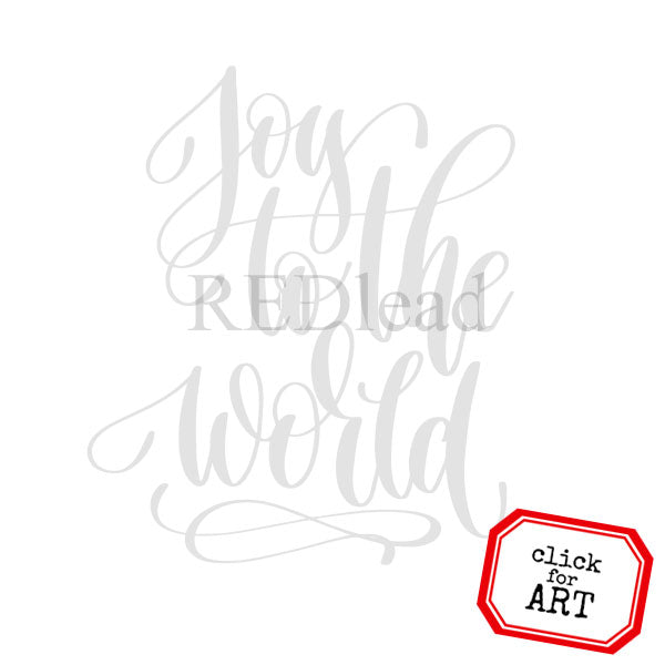 Joy to the World Rubber Stamp Save 20%
