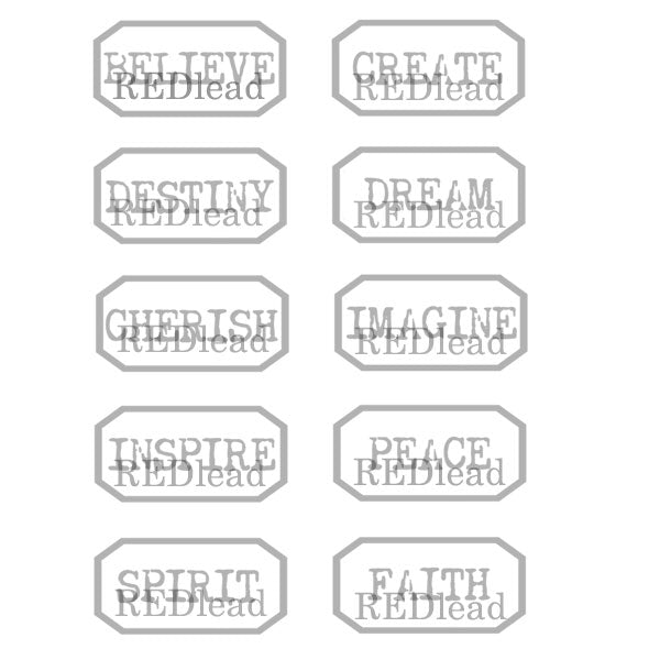 Believe Small Labels Rubber Stamp