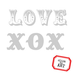 valentine rubber stamps