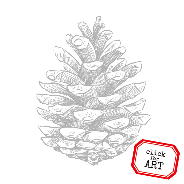 Pinecone Rubber Stamp SOLD OUT