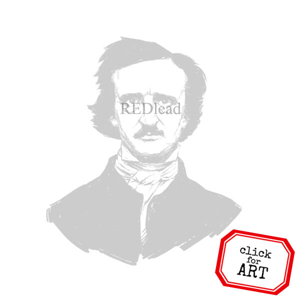Edgar A Poe Rubber Stamp