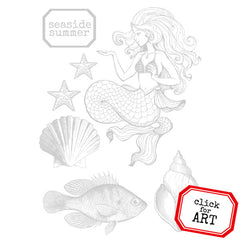 Seaside Summer Petite Rubber Stamp