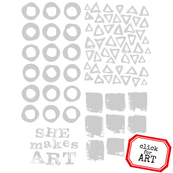 She Makes Art Rubber Stamp