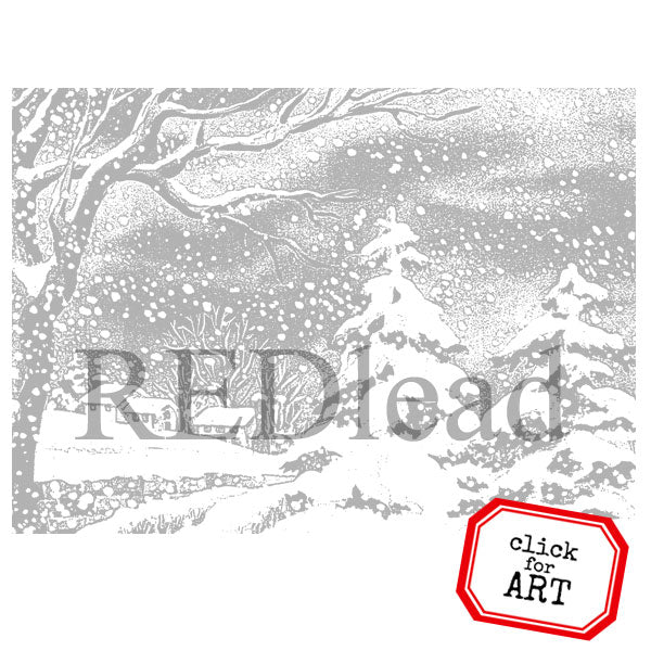 Snowy Eve Rubber Stamp