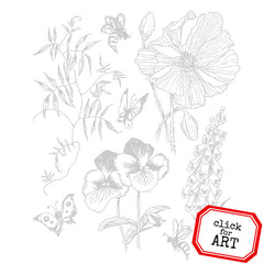 Spring Garden Rubber Stamp SOLD OUT