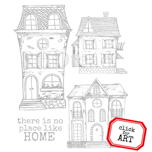 There is No Place Like Home Rubber Stamp Save 25%