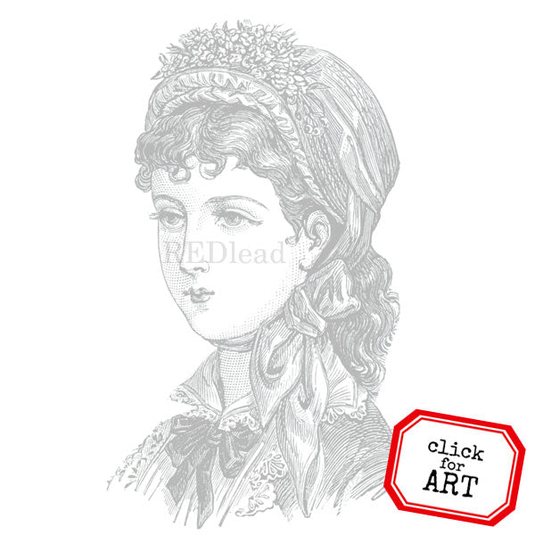 Lady Anna Rubber Stamp