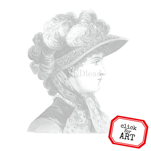 Lady Grace Rubber Stamp