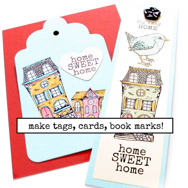 Home Sweet Petite Rubber Stamp