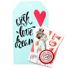 Cupids Delivery Valentine Rubber Stamp