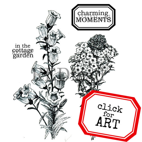 Charming Moments Cottage Flowers Rubber Stamps