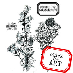 charming moments flower rubber stamps