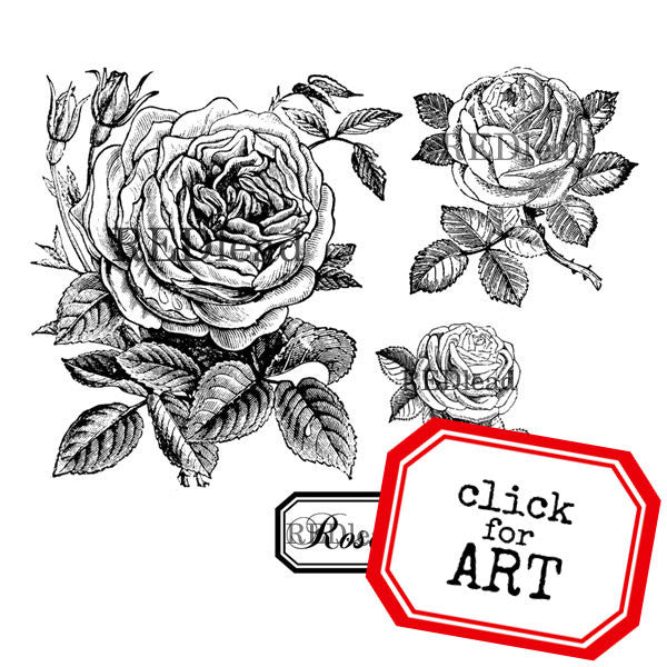 Roses Rubber Stamp - Sale!