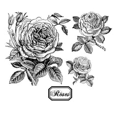cling mount roses rubber stamps