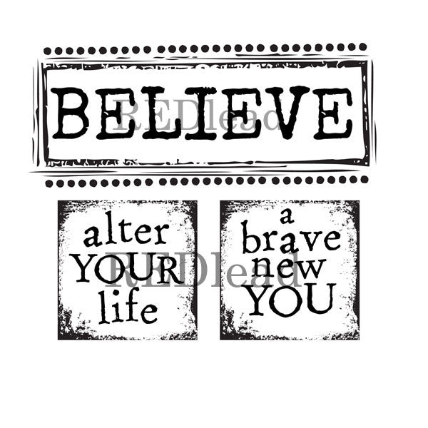 Believe Word Stamp