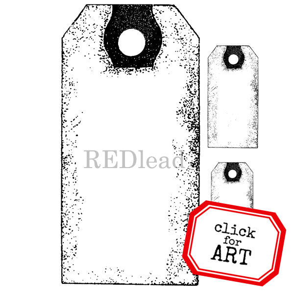 Blank Tags Rubber Stamp