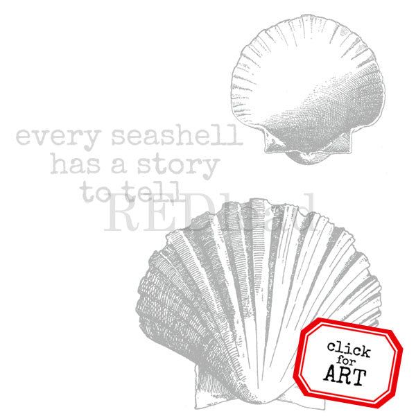 Every Seashell Has a Story to Tell Rubber Stamp