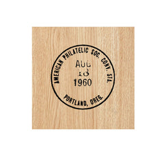 American Philatelic Postmark Wood Mounted Rubber Stamp