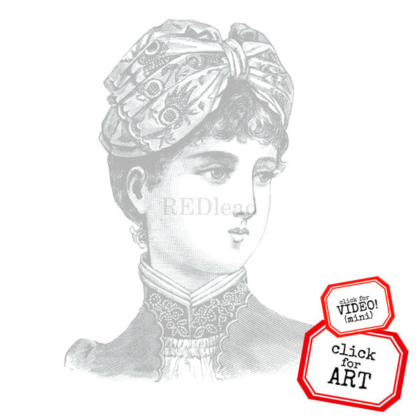 Victorian Lady Rubber Stamps