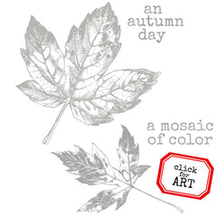 An Autumn Day Rubber Stamp