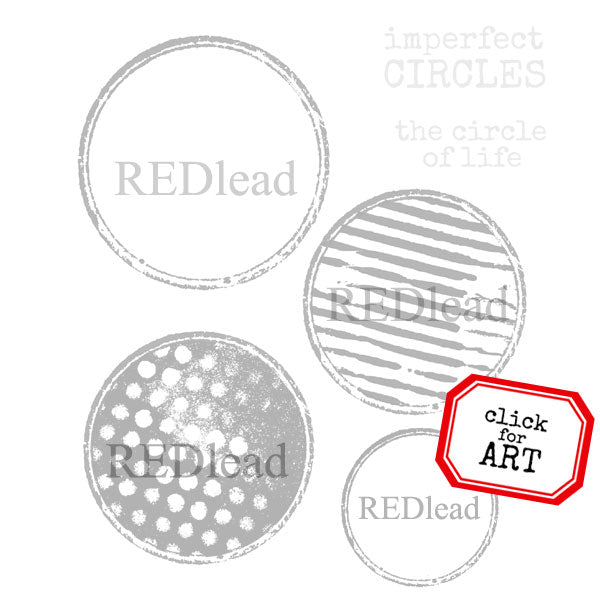 Imperfect Circles Rubber Stamp